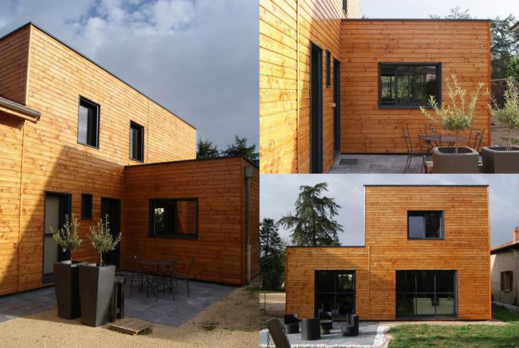 Architecte marcy l etoile maison et bureaux bbc bois