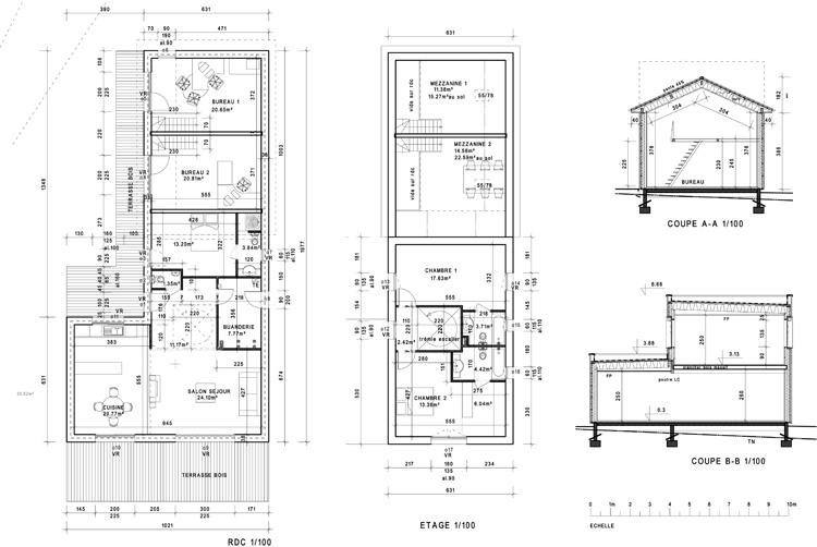 Architecte marcy l 39 etoile maison et bureaux bbc bois - Regles de construction en limite de propriete ...