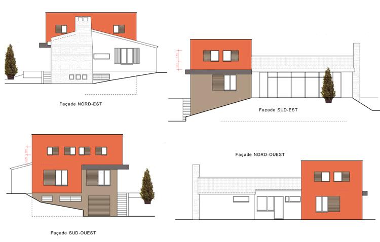 Architecte champagne au mont d 39 or for Architecture moderne maison individuelle