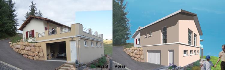 architecte rhone extensions de maisons individuelles a savigny. Black Bedroom Furniture Sets. Home Design Ideas