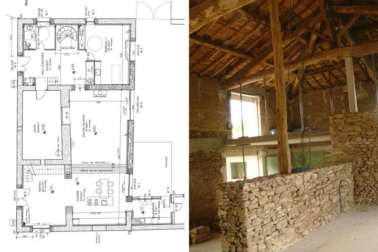 Renovation d une grange en maison d habitation amazing - Renovation d une grange en maison d habitation ...