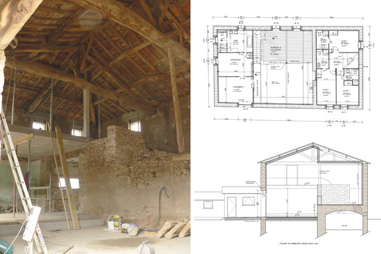 Architecte chasselay for Plan ancienne maison